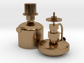 Valve chest oil cups for 1873 Stevens 4-4-0 in Natural Brass