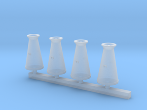 Conical Milk Churn HO scale 3.5mm in Smooth Fine Detail Plastic