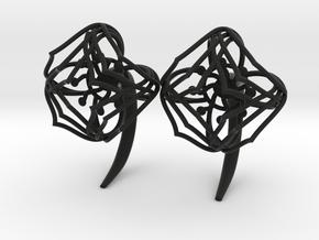 Plugs / gauges/ The Lotus Plug 4g (5 mm) in Black Natural Versatile Plastic