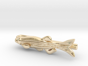 Zebrafish Tie Bar - Science Jewelry in 14K Yellow Gold