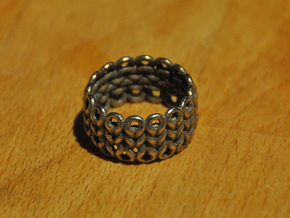 Knitter's Ring (59mm) in Stainless Steel