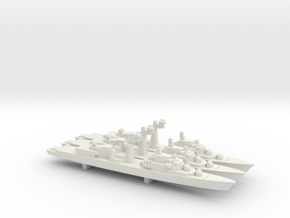 Tourville-class frigate x 3, 1/1800 in White Natural Versatile Plastic