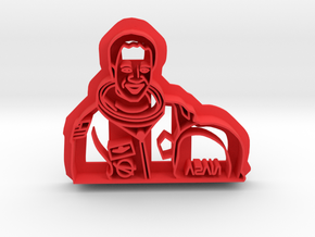 Guion S Bluford Cookie Cutter in Red Processed Versatile Plastic