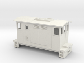 "HOn30 Boxcab Locomotive (""Maud"" V3) in White Natural Versatile Plastic"