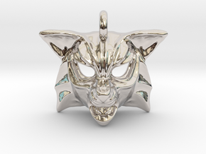 Fox Pendant in Rhodium Plated Brass