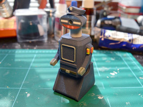 "R.O.T.O.R. Police Robot ""Willard""  in Full Color Sandstone"