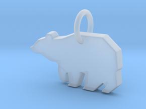 Bear Pendant in Smoothest Fine Detail Plastic