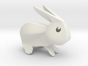 Little Bunny - V1 in White Natural Versatile Plastic