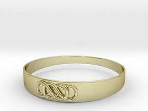 Double Infinity Bracelet ver.2 51mm inside in 18k Gold