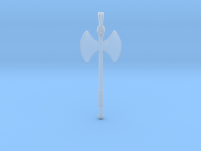 Labrys Double Blade Axe Symbol Jewelry Pendant in Smooth Fine Detail Plastic