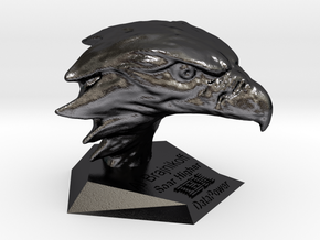 123DDesignDesktop in Polished and Bronzed Black Steel