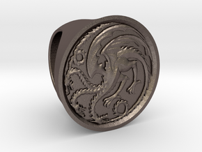 Targaryen Ring in Polished Bronzed Silver Steel