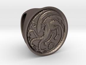 Targaryen Ring in Polished Bronzed Silver Steel