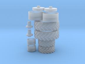H0 1:87 Reifen für Deutz DX 4.70 in Smooth Fine Detail Plastic