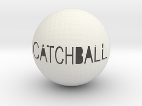 Catchball in White Natural Versatile Plastic