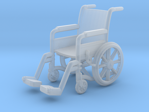 Wheelchair 01. HO Scale (1:87) in Smooth Fine Detail Plastic