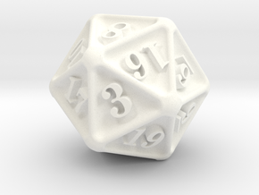 D20 in White Strong & Flexible Polished