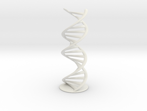 DNA helix + stand (small) in White Natural Versatile Plastic