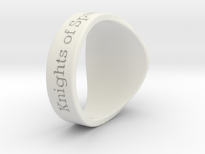 Golden Ball Tuned Ring Season 1 in White Natural Versatile Plastic