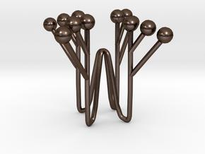 Fehu Candleholder in Polished Bronze Steel