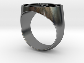 Overwatch Ring (US Size 10) in Polished Silver