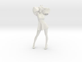 1/18 Skirt Girl-003 in White Natural Versatile Plastic