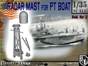 1-35 Radar Mast For PT BOAT in Frosted Ultra Detail