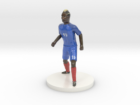 French Football Player in Glossy Full Color Sandstone