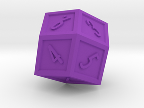 The Rhombus Dice in Purple Processed Versatile Plastic