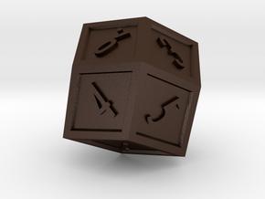 The Rhombus Dice in Matte Bronze Steel
