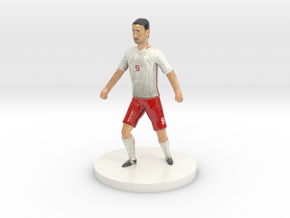 Polish Football Player in Glossy Full Color Sandstone