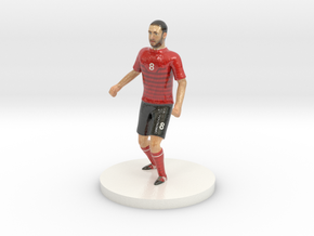 Albanian Football Player in Glossy Full Color Sandstone