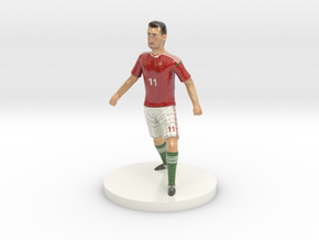 Hungarian Football Player in Glossy Full Color Sandstone
