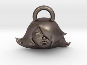 Steven Universe Amethyst charm in Polished Bronzed Silver Steel