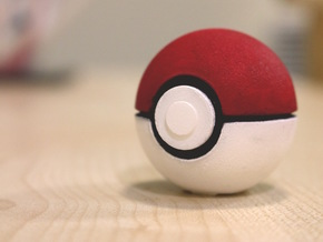 Pokeball - I Choose You in White Natural Versatile Plastic