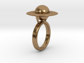 Saturn Ring (size 6) in Natural Brass