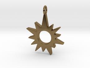 Sunburst Pendant in Polished Bronze