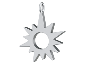 Sunburst Pendant in Polished Silver