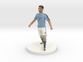 Uruguayan Football Player in Glossy Full Color Sandstone