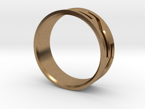 Mosaic Ring in Natural Brass