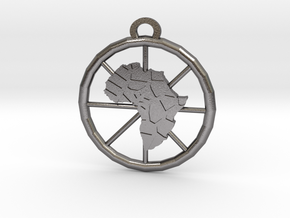 Africa Pendant in Polished Nickel Steel