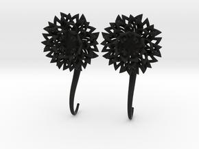 Plugs / gauges/ The Chrysanthemums 6 g (4 mm) in Black Natural Versatile Plastic