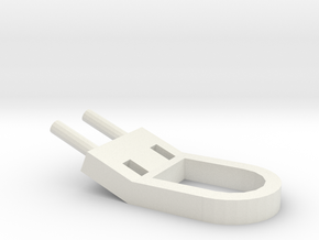 Tab 2 in White Natural Versatile Plastic