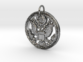 Eagle Glory in Polished Silver