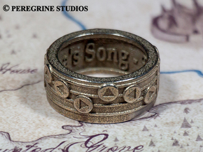 Ring - Epona's Song in Polished Bronzed Silver Steel: 13 / 69