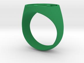 Green Lantern Ring (US Size 11.5) in Green Processed Versatile Plastic