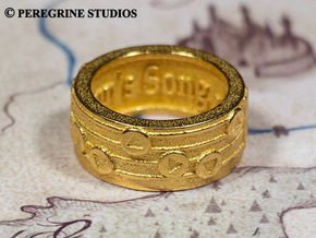 Ring - The Sun's Song in Polished Bronzed Silver Steel: 13 / 69