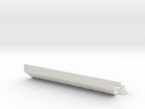 Skid plate right Adventure D110 Gelande 1:10 in White Natural Versatile Plastic