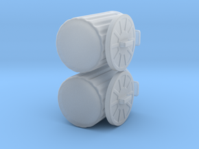 generic trash cans for tabletop games in Smooth Fine Detail Plastic