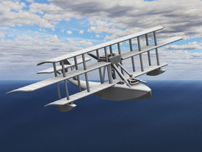 """Levy-Besson """"Alerte"""" Flying Boat in White Strong & Flexible: 1:144"""